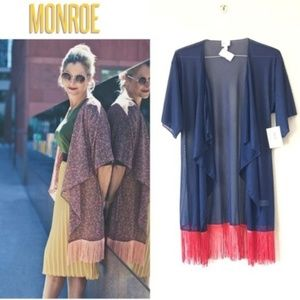 LuLaRoe Monroe Printed Kimono Size S